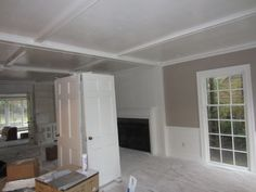 LR paint and ceiling