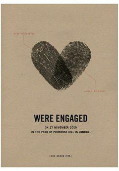 Engaged card