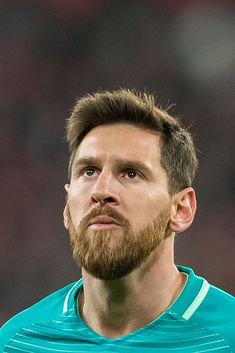 Lionel Andres Messi of FC Barcelona looks on during their Copa del. Fc Barcelona, Lionel Messi Barcelona, Soccer Couples, Soccer Boys, Lionel Messi Haircut, Messi Wallpaper 2017, Messi Beard, Yoga Fitness, Fitness Snacks