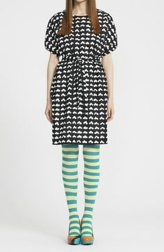 wooden shoe patterned dress. love it!