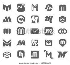 Letter M symbol logo illustration set - stock vector Initials Logo, Monogram Logo, Corporate Logo Design, Branding Design, Logo Academia, Logo Design Inspiration, Icon Design, Two Letter Logo, Logistics Logo