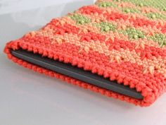"case for ebook reader ""kindle"", crochet feather stich"