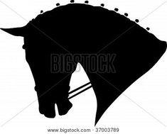 dressage horse silhouette | Dressage Horse Head Silhouette.eps