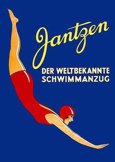 Jantzen  'The World Famous Swimsuit'  c.1930 http://www.vintagevenus.com.au/vintage/reprints/info/FAS168.htm