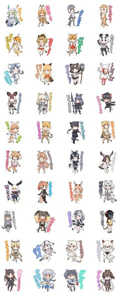 """Official """"Kemono Friends"""" Anime Version LINE Stamp Set Now Available"""