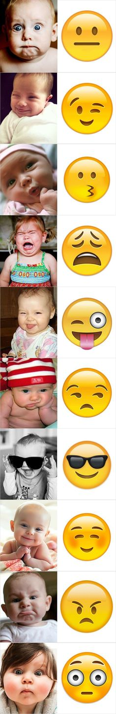 We all add emojis at the end of our texts in order to make them more lively and showing our facial expressions through messages. However, different emojis can add different emotions to your text and if you use them wrongly, the recipients might get the wr Funny Baby Faces, Memes Funny Faces, Funny Humor, Memes Humor, Image Week End, Funny Emoji Texts, Baby Shower Quotes, Funny Baby Quotes, Funny Love