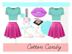 """Cotton Candy"" by coral45 on Polyvore featuring Pilot, LE3NO, Nly Shoes, MAKE UP STORE and Lime Crime"