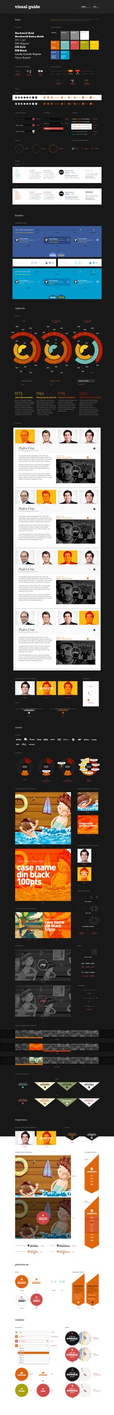 Great color and interface elements Web Style Guide, Style Guides, Design Guidelines, Brand Guidelines, Web Layout, Business Intelligence, Game Design, Plan Design, Apps