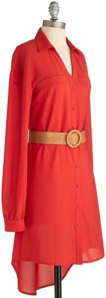 Red All About You Dress - Lyst