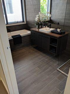 Floor board tiles in main bathroom Simonds Homes Bathroom Inspo, Bathroom Interior, Simonds Homes, Black Kitchens, Building A House, Bathrooms, Tiles, House Ideas, Australia