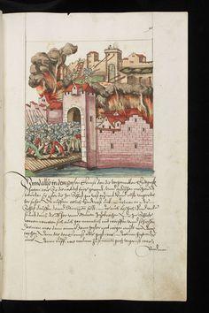 Chronicon Helvetiae, Teil II. Wettingen, 1572. Aargauer Kantonsbibliothek, MsWettF 16: 2, fol 90r