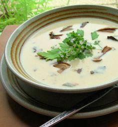 Wild Mushroom and Buttermilk Soup