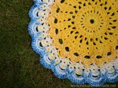 Crochet Mandala Rug 8 Another Blooming Mandala Rug...