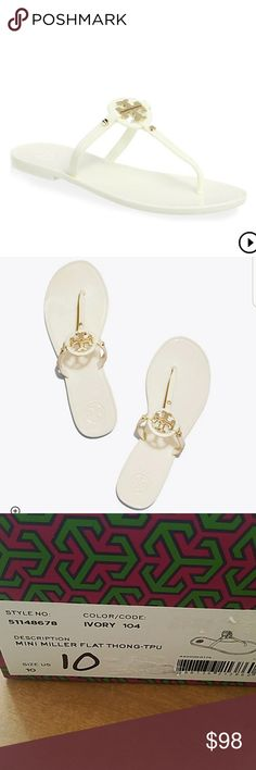 8b6385fa6c2ce I just added this listing on Poshmark  Tory Burch - Mini Miller Jelly Thong  Sandals