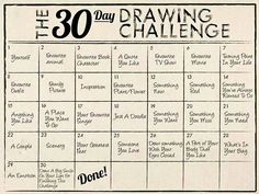 30 Day Drawing Challenge : July 2014 on Behance                              …
