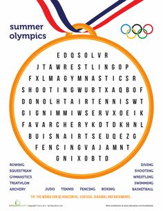 Go for the gold! Can your little athlete race to find the sports that are played during the Summer Olympics?