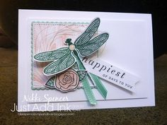Dragonfly Dreams, Happiest of Days, Marbled background Stampin Up, Marble Wallpaper Phone, Bee Cards, Marble Print, Are You Happy, Meant To Be, Birthday Cards, Challenges, Presents