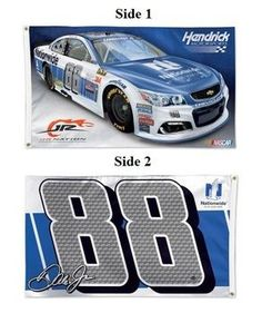 Dale Earnhardt Jr 2 Sided 3x5 2017 NASCAR Flag Double Logo