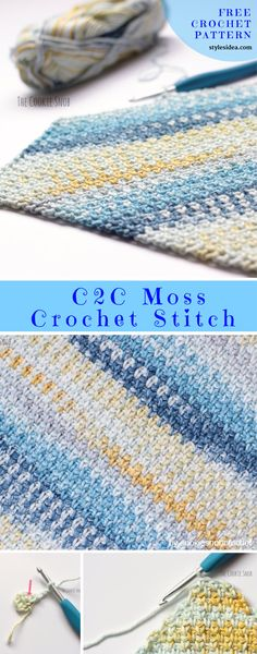 C2C Moss Stitch Crochet Free Pattern. Crochet → Stitch | Written | US Terms Level: upper beginner hook: 5mm Author: by cookiesnobcrochet We recommend stunning stitch which can work at just any gauge. Follow along with the tutorial step by step to know the details. Afghan blanket #freecrochetPatterns #afghan#freecrochetPatternsforafghan #freecrochetPatternsforblanket #crochetstitch #crochetstitch #crochetfreepatternsforhome
