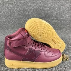 Mens Womens Nike Wmns Air Force 1 Hi SE Night Maroon 860544 600 Running Shoes  Nike e7103fe91