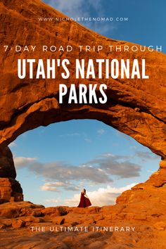 Are Utah's national parks on your bucket list? This is your guide to the ultimate road trip itinerary to visit all of Utah's national parks in 1 week! It has your must-see sights and tips for planning your 7-day trip through Arches, Canyonlands, Capitol Reef, Bryce Canyon, and Zion National Parks. | utah road trip | southwest road trip | utah's might 5 | national park road trip| united states road trip | moab road trip | united states national parks | US national parks | utah photography Canyonlands National Park, Sequoia National Park, Banff National Park, Rocky Mountain National Park, Capitol Reef National Park, Us National Parks, Travel Usa, State Parks, Utah