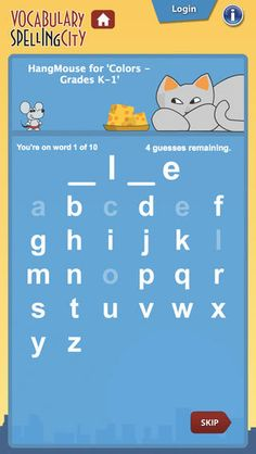 VocabularySpellingCity is a fun way to learn spelling and vocabulary words by playing engaging learning games using any word list.