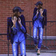 Boné + Double Jeans