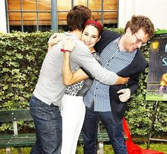 Tfios crew John Green, Ansel Elgort, and Shai Woodley