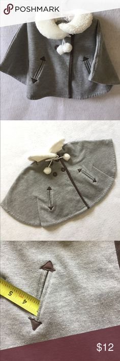 """Aphorism Cape Coat for Baby 12M Adorable cape coat from Aphorism for a girl 12M. Pockets are about 3"""" deep. My daughter wore only once, excellent condition, no stains or tears. Aphorism Jackets & Coats Capes"""