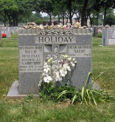 "Billie Holliday, ""Lady Day"", St Raymonds Cemetery, Bronx, NY"