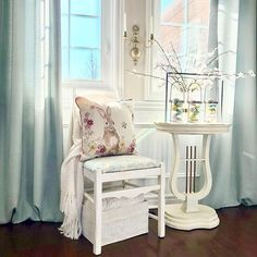 #springdecor Spring Is Here, Spring Home, Dark Winter, Chair, Inspiration, Furniture, Home Decor, Biblical Inspiration, Decoration Home
