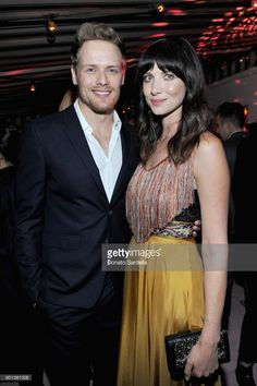 Sam Heughan (L) and Caitriona Balfe attend W Magazine's Celebration of its 'Best Performances' Portfolio and the Golden Globes with Audi, Dior, and Dom Perignon at Chateau Marmont on January 4, 2018 in Los Angeles, California.
