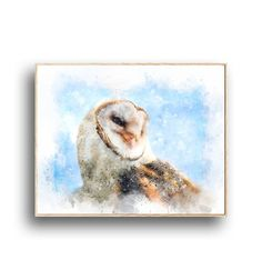 Housewarming gift for Bird lovers. Forest Animals, Woodland Animals, Nursery Prints, Wall Art Prints, Owl Wall Art, Woodland Decor, Wilderness, Printable, Birds