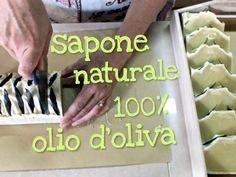 SAPONE NATURALE FATTO IN CASA 100% OLIO DI OLIVA METODO TUTTO A FREDDO - Homemade olive oil soap