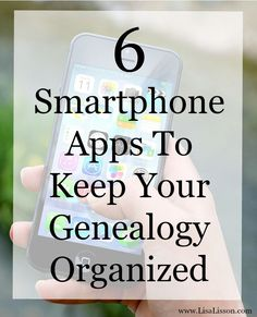 Organizing your genealogy research and files can be an ongoing challenge. These smartphone apps can help you stay organized from the start and keep your genealogy files at your finger tips.