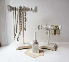 Your Choice - Necklace Holder, Bracelet Holder, Ring Holder - Recycled Architectural Salvage - Retail Jewelry Display (Style 4)