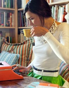 Image result for girl having coffee planning