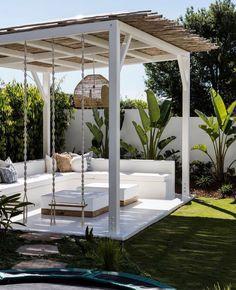 Small Backyard Patio, Fire Pit Backyard, Garden Entrance, Backyard Paradise, Beach Bungalows, Outdoor Living, Outdoor Decor, Outdoor Furniture, Pool Days