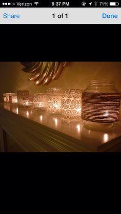Lace mason Jars! DIY