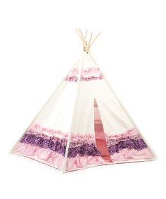 Another great find on #zulily! Purple & Pink Ribbon Teepee Tent by KingMax Product #zulilyfinds