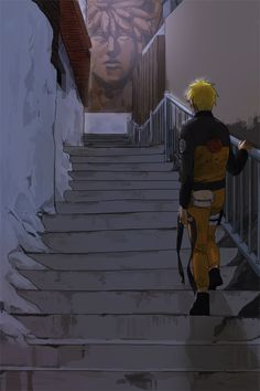 Alone.  0_0  TT-TT . This is such a beautiful piece of Naruto fan art.