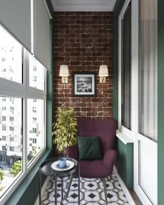 aper_style Ideas, fantasies and incarnations / _________________________________________________ Unknown author. Interior Balcony, Balcony Furniture, Interior And Exterior, Small Balcony Design, Small Balcony Decor, Balcony Ideas, Balcony Decoration, Modern Balcony, Patio Ideas
