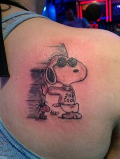 Joe Cool SNOOPY  Tattoo by Alex Y.