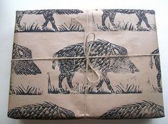 Wild Boar Rustic Christmas Gift Wrap - SO perfect for my brother!!!