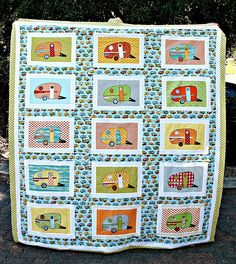 vintage camper quilt to put in my vintage camper! Oh Me Oh My ! I WANT THIS!!