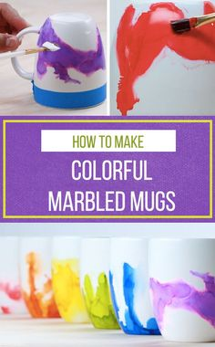 These watercolor mugs make perfect gifts!