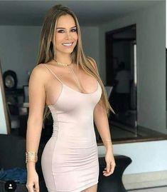 Hot girls in sexy Hot Girls, Tight Dresses, Sexy Dresses, Hot Dress, Skin Tight, Sexy Outfits, Gorgeous Women, Ideias Fashion, Sexy Women