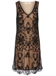 Black lace 20s dress style