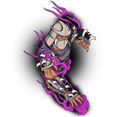 Shredder Tmnt, Ninja Turtles Shredder, Ninja Turtles Art, Teenage Mutant Ninja Turtles, Dope Tattoos, Anime Tattoos, Ninja Turtle Tattoos, Master Splinter, Pop Art Wallpaper