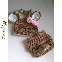 Baby Deer Outfit, Crochet Baby Deer Outfit, Baby Deer Hat, Baby Deer Costume  Check out this item in my Etsy shop https://www.etsy.com/listing/228637173/baby-deer-costume-newborn-deer-photo Also YarnCozy on Facebook and @yarncozy on instagram